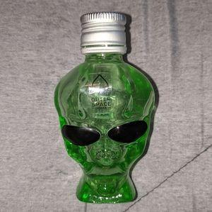 Outer Space Vodka Alien Head Empty Glass Bottle